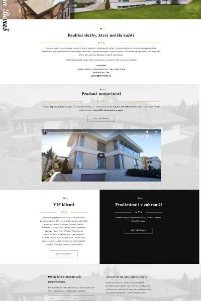 Webové stránky pro makléře Jana Bareše