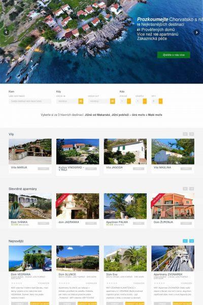 Webové stránky cestovní kanceláře
