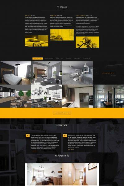 Webové stránky interiérového studia Approx