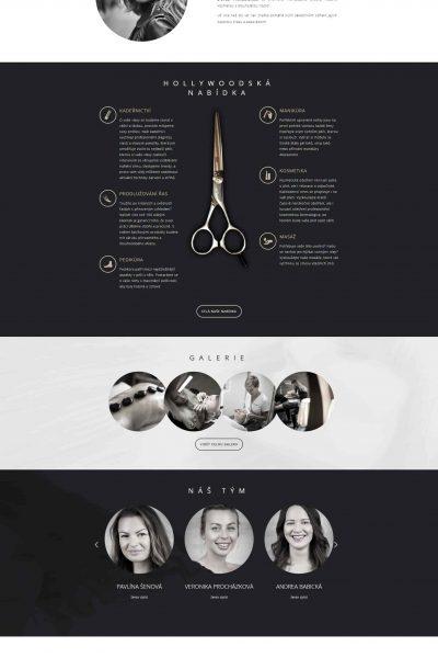 Webové stránky kadeřnictví
