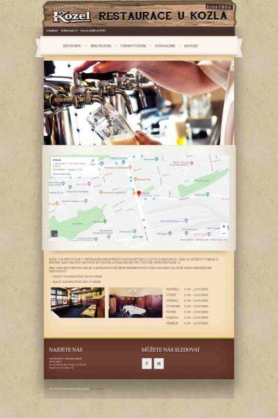 Webové stránky restaurace U Kozla